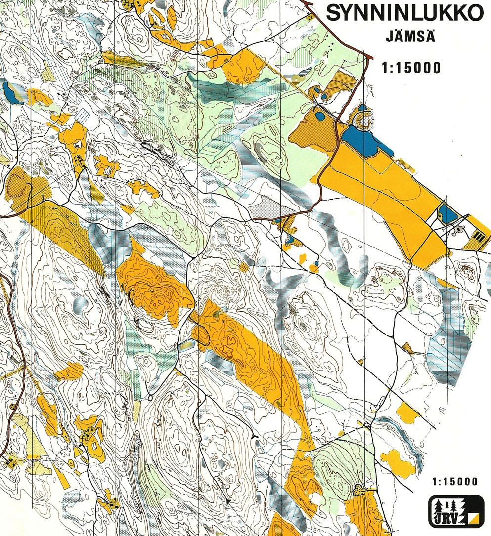 Old maps of the area Jukolan Viesti 2013