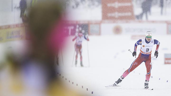 20160221 Lahti Ski Games. Naisten skiathlon 7.5km + 7.5km. Ingvild Flugstad Oestberg. By Jussi Nahkuri