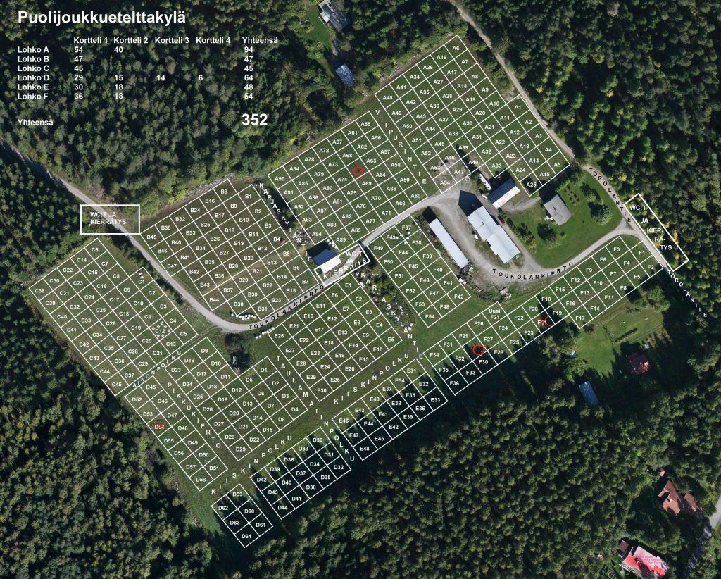 Törölän pelto 352 telttaa huoltopaikat ja tiennimet (1)