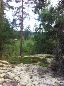 Kallioiden päältä näkyy kauas.